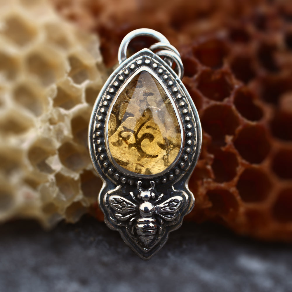 Honey Bee Citrine Necklace