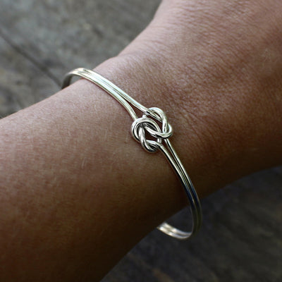 Tie the Knot Bracelet, Double Love Knot Bracelet, Will you be my Bridesmaid - Mountain Metalcraft