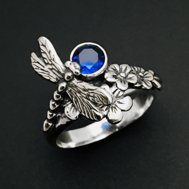Dragonfly Ring, Nature Inspired Jewelry, Garden Ring - Mountain Metalcraft