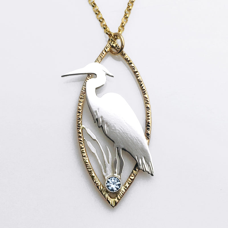 Blue Heron Necklace - Mountain Metalcraft