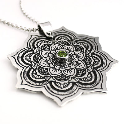 Sterling Silver Mandala Necklace - Mountain Metalcraft