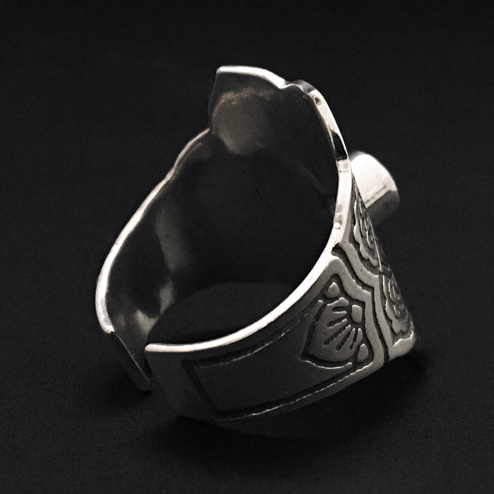 Adjustable Mandala Ring, Birthstone Ring, Sterling Silver - Mountain Metalcraft