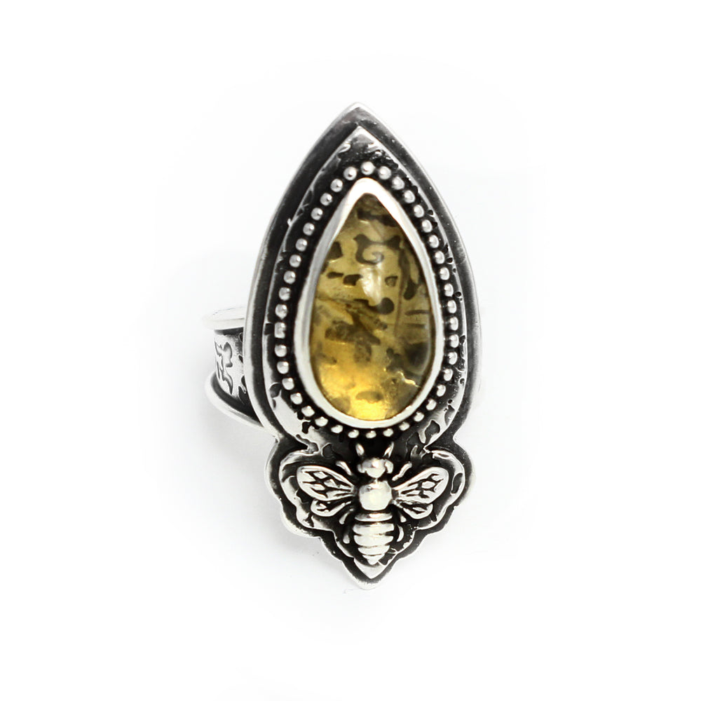 Honey Bee Citrine Ring