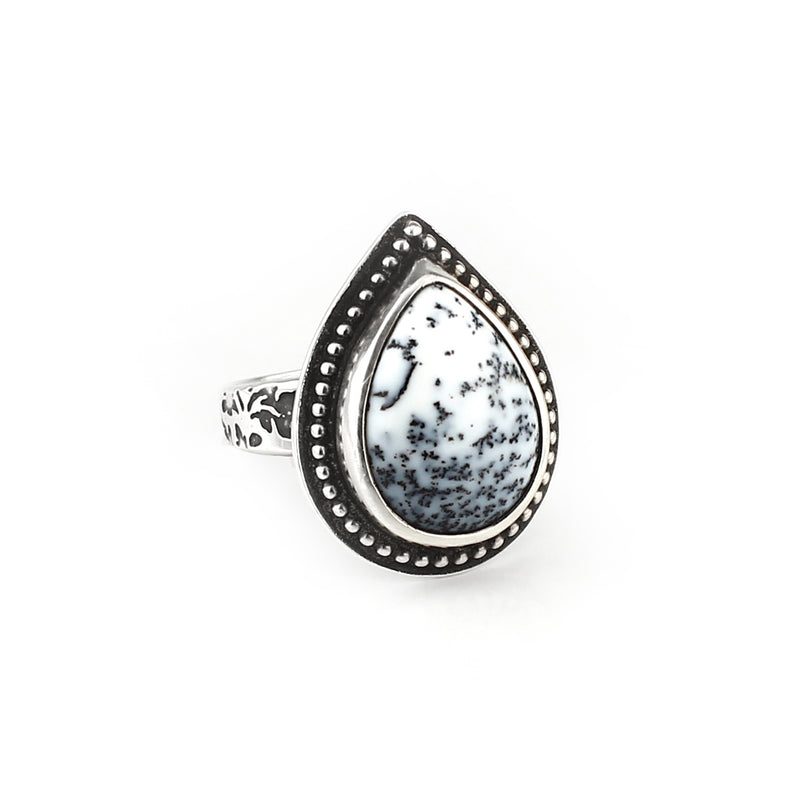 Dendritic Opal Winter Ring