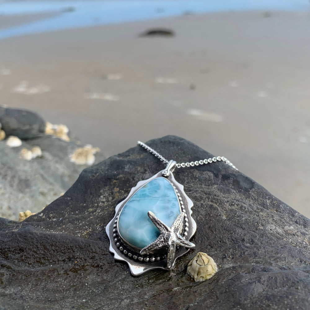 Larimar Starfish Necklace