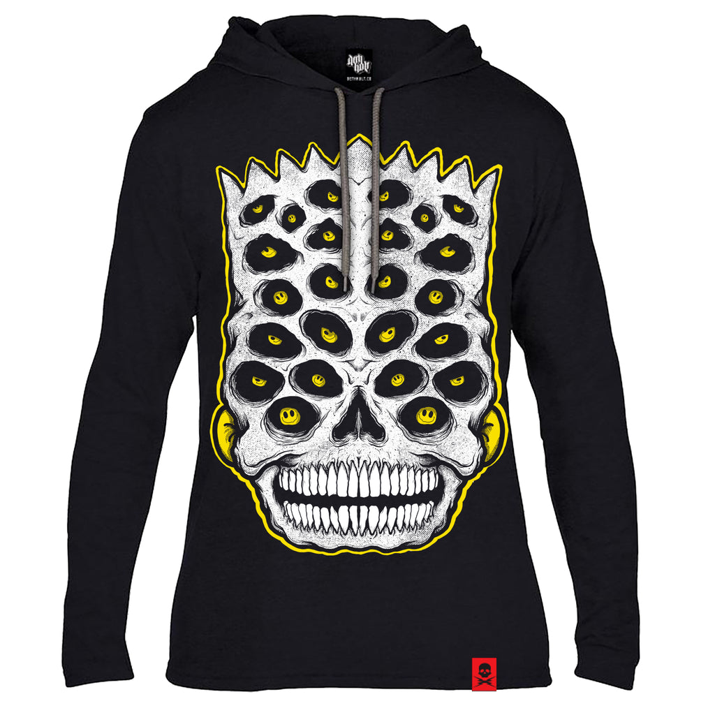'El Kulto' - Longsleeve Hooded T-Shirt (Black)