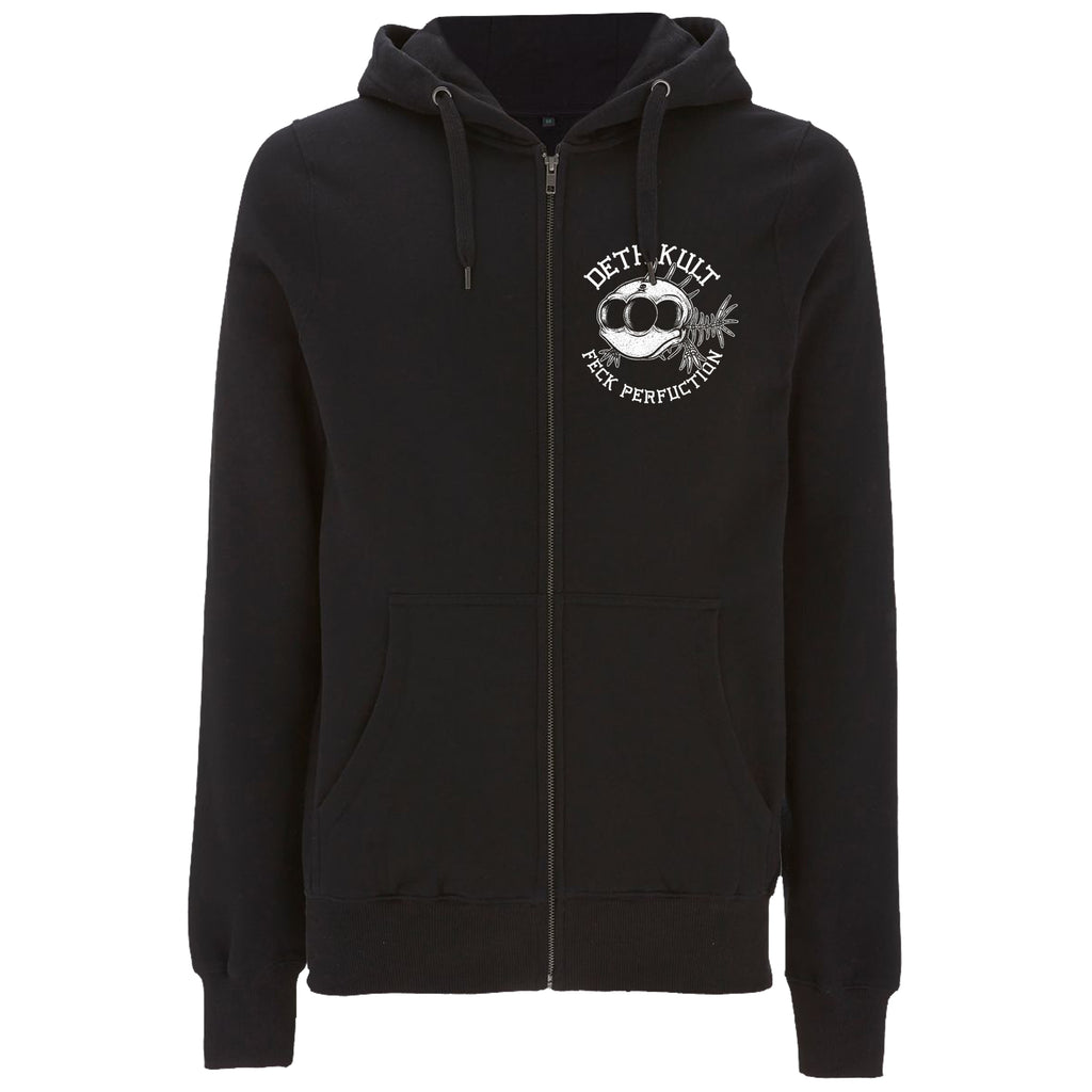 'Feck Perfuction' Zipped Hoodie (Black) - Deth Kult