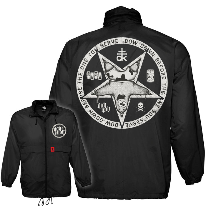 'Patrickgram 2' Windbreaker Jacket (Black) - Deth Kult