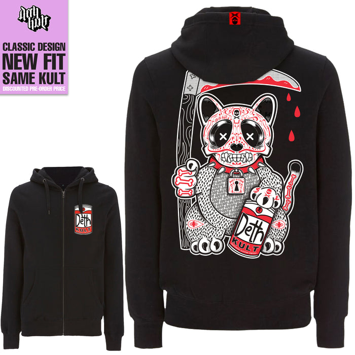 'Still Making My Own Luck' Zipped Hoodie (Black) - Deth Kult