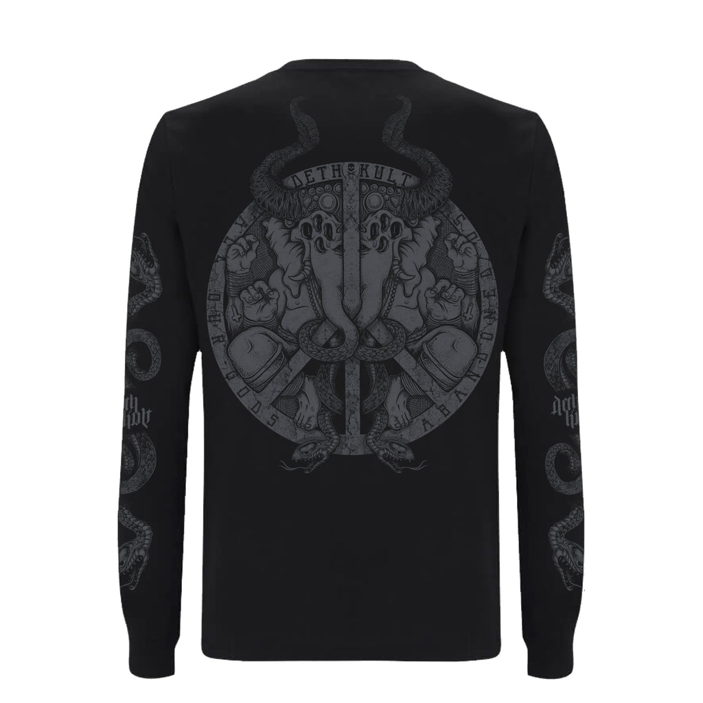 'The Anti-God' Long sleeve T-Shirt (Black) - Deth Kult