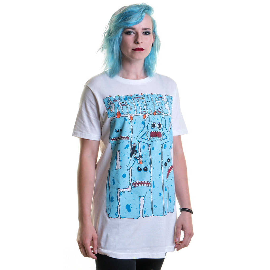 'Existence Is Pain' Longline T-Shirt (White) - Deth Kult
