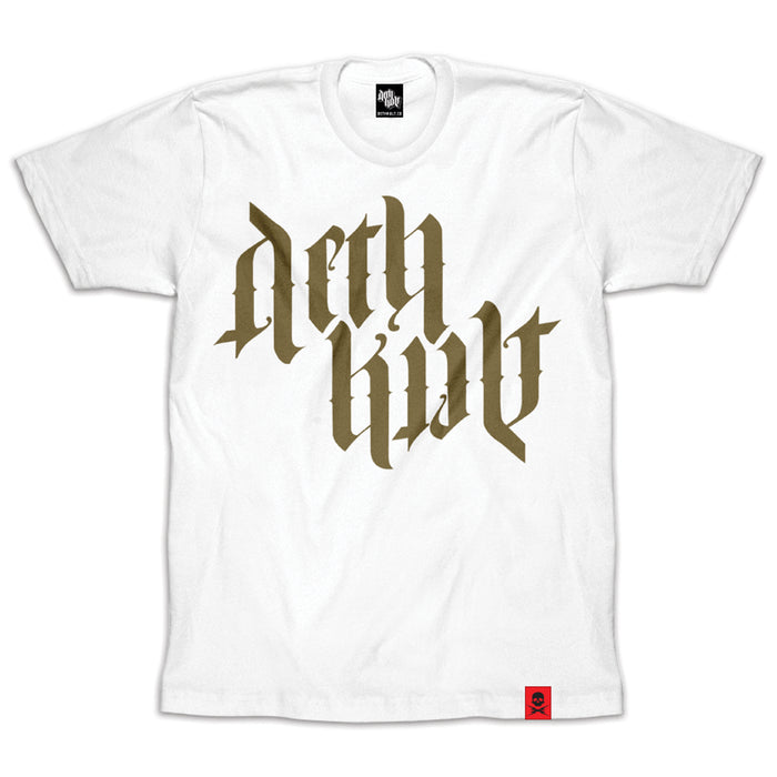 'Trademark Ambigram' T-Shirt (Gold/White)