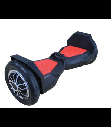 LS Certified Bluetooth Hoverboard Smart Self Balancing Electric Scooter All Terrain - Black/Red