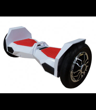 LS Certified Bluetooth Hoverboard Smart Self Balancing Electric Scooter All Terrain - White/ Red