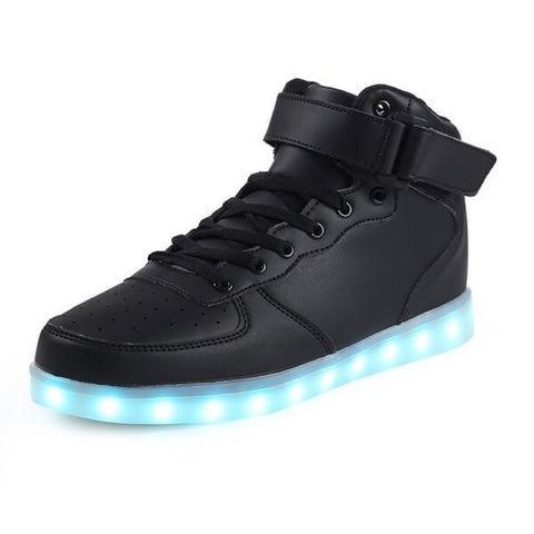 High Top™ - LED Shoes - Light Up Shoes Womens Mens Adults Black