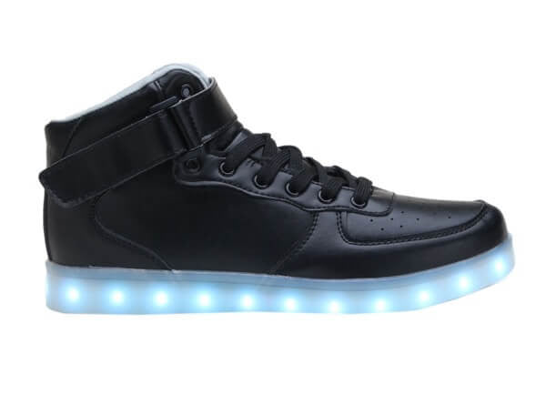 High Top™ LED Light Up Shoes for Little Kids - Black