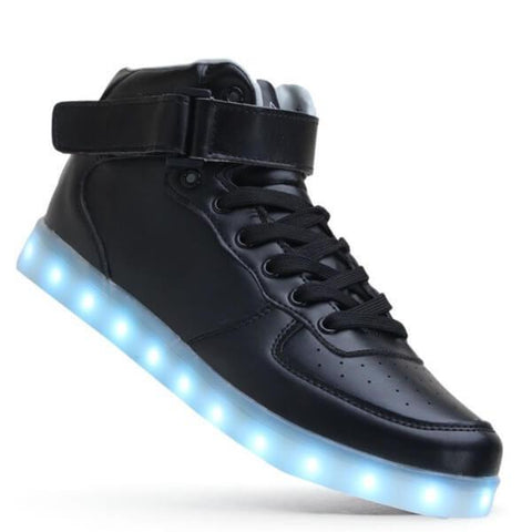 High Top™ LED Light Up Shoes for Kids - Black