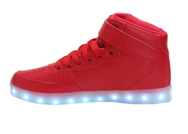 High Top™ LED Light Up Shoes for Women - Red