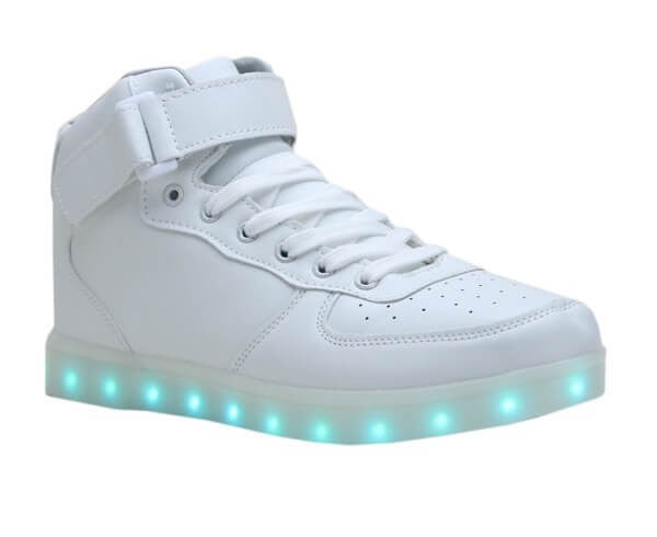High Top™ - LED Shoes - Light Up Shoes Kids Boys Girls White