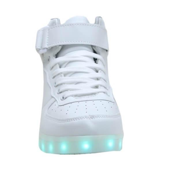High Top™ LED Light Up Shoes for Kids - White