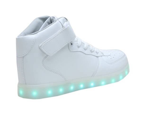 High Top™ LED Light Up Shoes for Little Kids - White