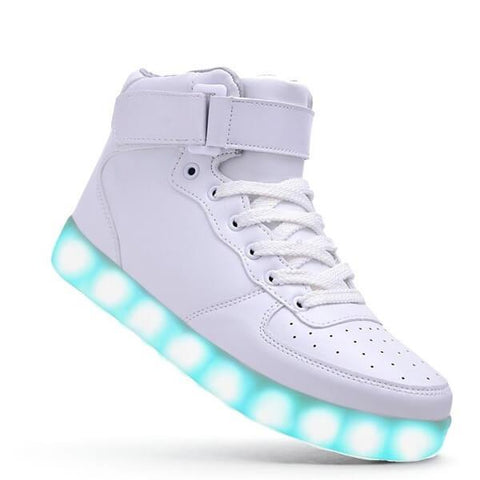 High Top™ LED Light Up Shoes for Men - White