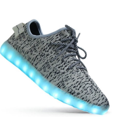 YZ™ - LED Shoes - Light Up Shoes Kids Boys Girls - Gray Grey