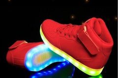 High Top™ LED Light Up Shoes for Kids - Red