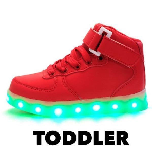 High Top™ LED Light Up Shoes for Toddler - Red