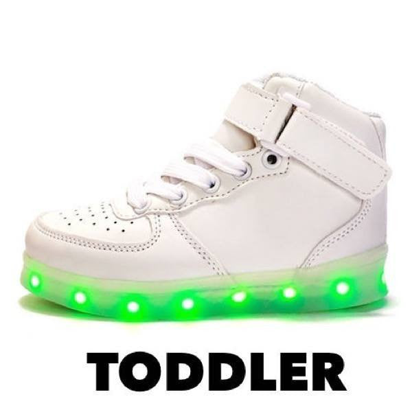 High Top™ LED Light Up Shoes for Toddler - White
