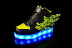 Wings™ LED Light Up Shoes for Toddler - Black & Green