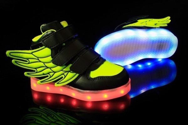 Shoes - LED Wings Shoes - Toddler Little Kids Sneakers - Black Green