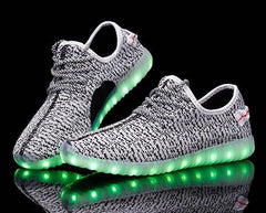 YZ™ LED Light Up Shoes for Kids - Gray/Grey