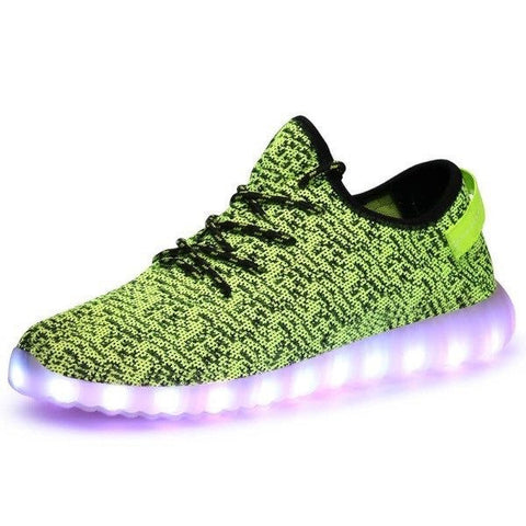 Shoes - LED Yeezy Shoes - Kids Boys Girls Sneakers - Green