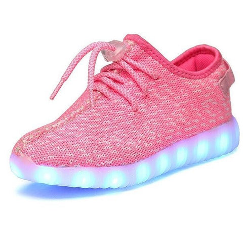 Shoes - LED Yeezy Shoes - Kids Boys Girls Sneakers - Pink