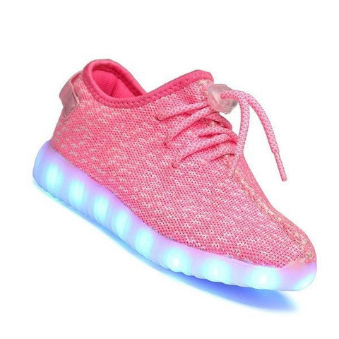 Shoes - LED Yeezy Shoes - Light Up Womens Mens Sneakers - Pink