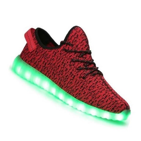 Shoes - LED Yeezy Shoes - Light Up Womens Mens Sneakers - Red