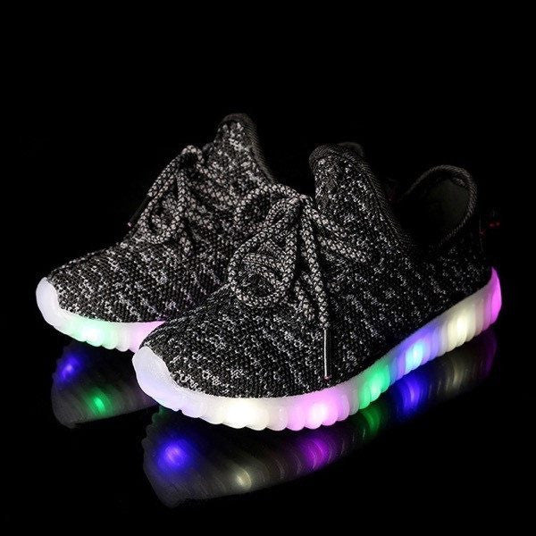 YZ™ LED Light Up Shoes for Toddler - Black