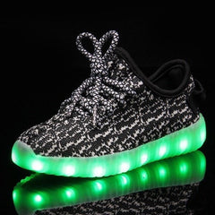 Shoes - LED Yeezy Shoes - Toddler Little Kids Sneakers - Black