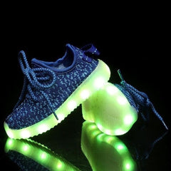 Shoes - LED Yeezy Shoes - Toddler Little Kids Sneakers - Blue
