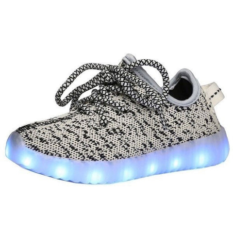 Shoes - LED Yeezy Shoes - Toddler Little Kids Sneakers - Gray
