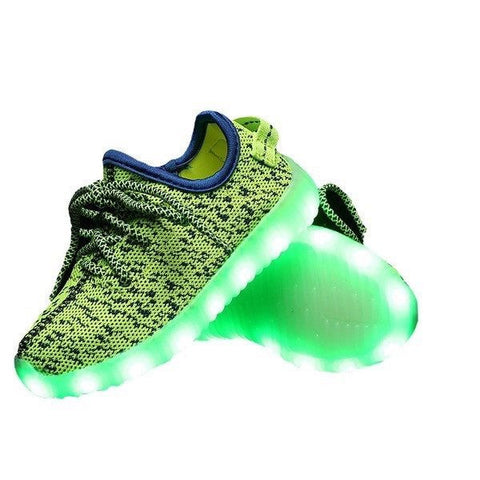 Shoes - LED Yeezy Shoes - Toddler Little Kids Sneakers - Green