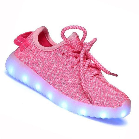Shoes - LED Yeezy Shoes - Toddler Little Kids Sneakers - Pink
