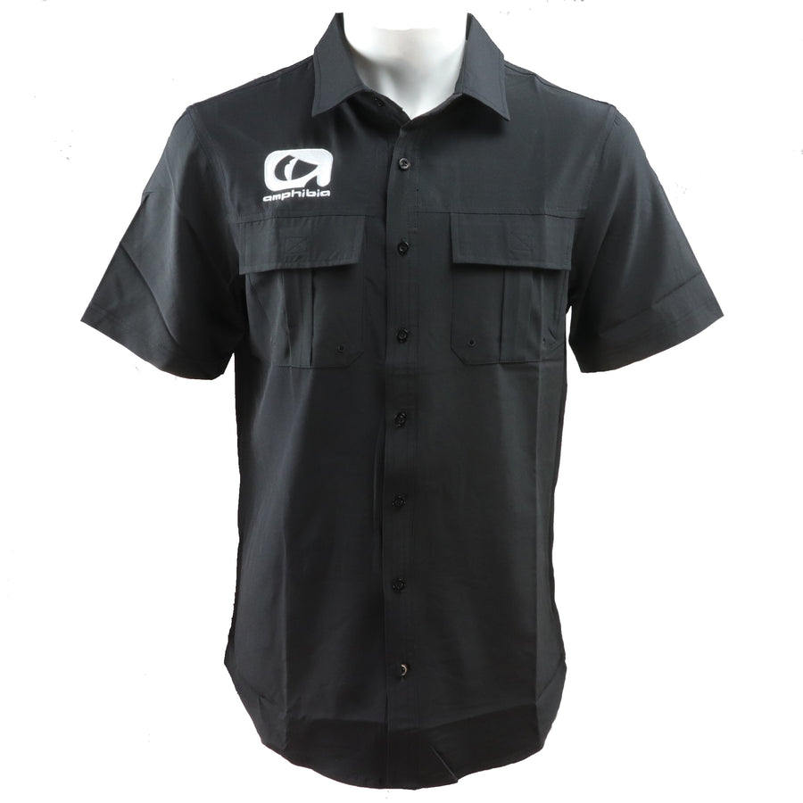 Amphibia Black Performance Fishing Shirt