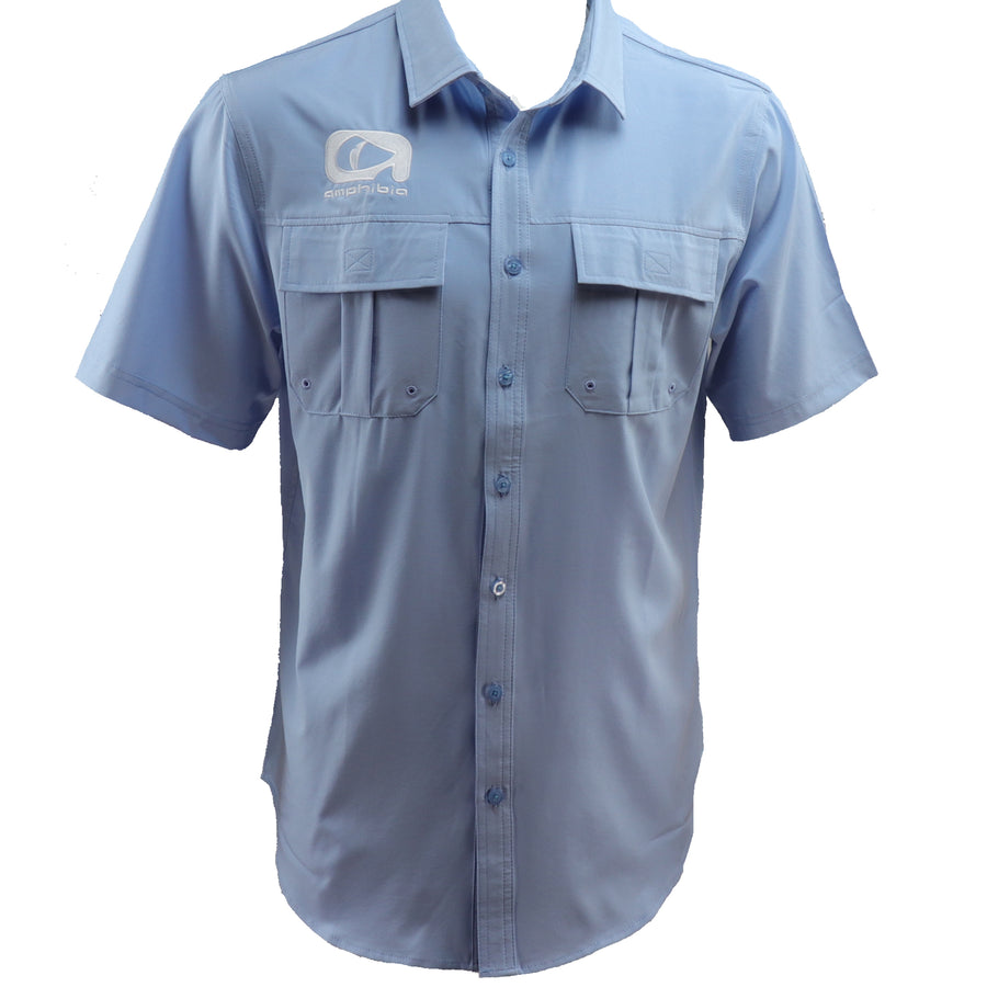 Amphibia Light Blue Performance Fishing Shirt