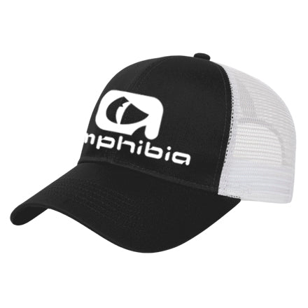 Amphibia Large Logo Black Mesh Hat