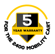 5 Year Warranty for 2400 Mobility Cart