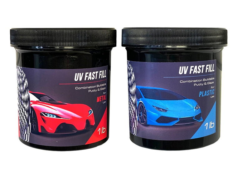 UV Fast Fill Combination Buildable Putty & Glaze