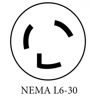 NEMA L6-30 Locking Adapter Plug for UVFastlane 2000 Cart