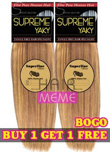 Superline Collection A Grade 100% Human Hair Supreme Yaky Weaving